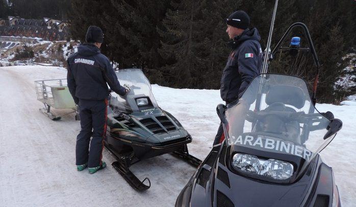 Carabinieri piste sci 1