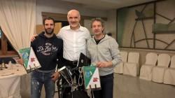 da sx Salvatore Fogliano, il presidente Nezosi e Rinaldo Marioli