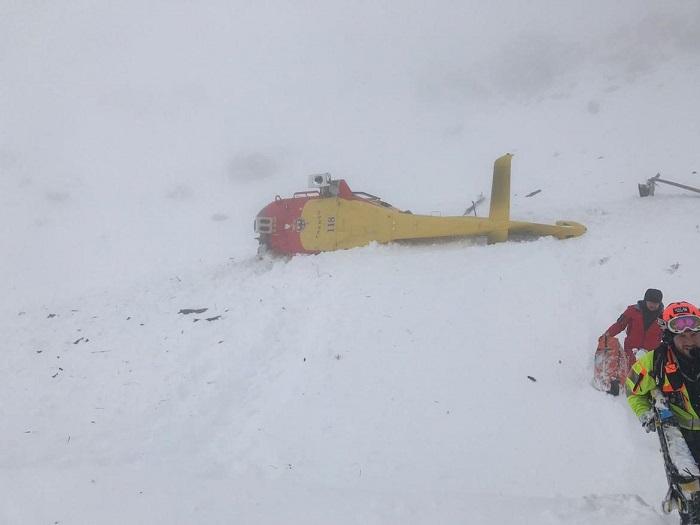 Elicottero caduto Campiglio 1