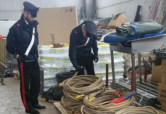 carabinieri furto rame 0