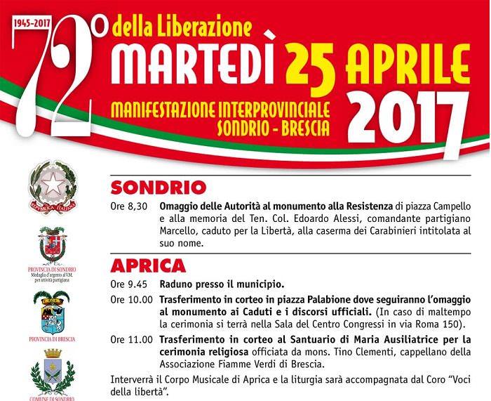 Aprica manifesto 25 aprile