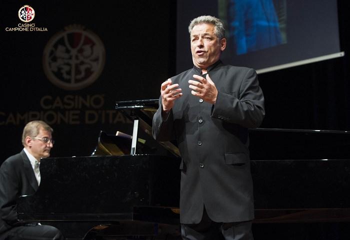 """Casinò di Campione d'Italia spettacolo """" Perle dell'Opera """" con il tenore Ottavio Palmieri"""