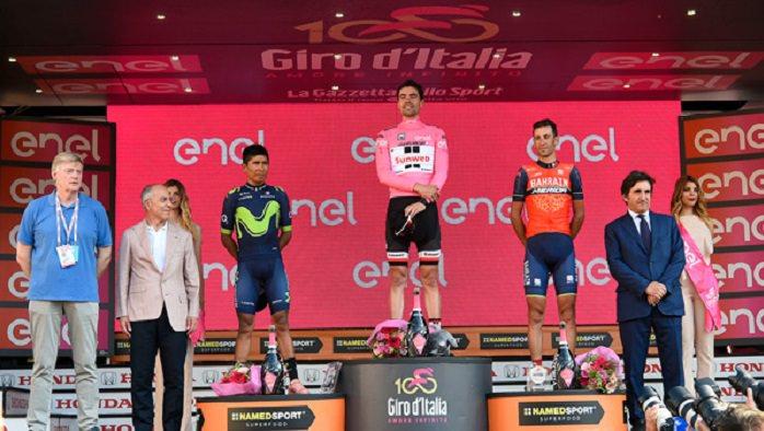 Giro Italia podio Milano