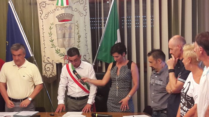 Malonno giuramento sindaco Gelmi