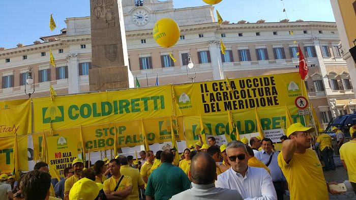 coldiretti protesta Roma