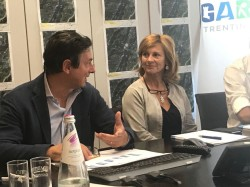 presidente Marco Benedetti e direttrice Roberta Maraschin