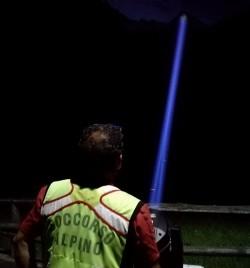 soccorso alpino intervento notturno