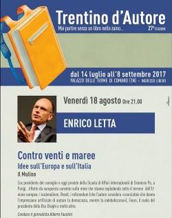 Enrico Letta Trentino d'autore 1