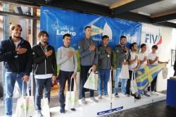 Il podio dei vincitori delle regate Tricolori Match Race U23 2017