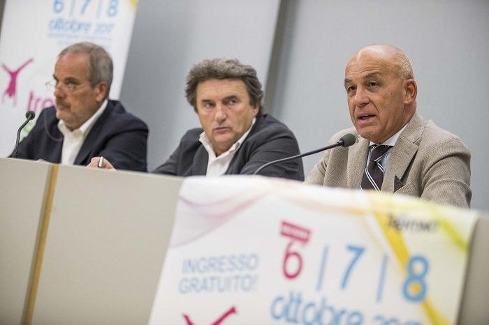 TrentinoSport Days dx GiovanniLaezza, RobertoPellegrini, assessore Tiziano Mellarini 1