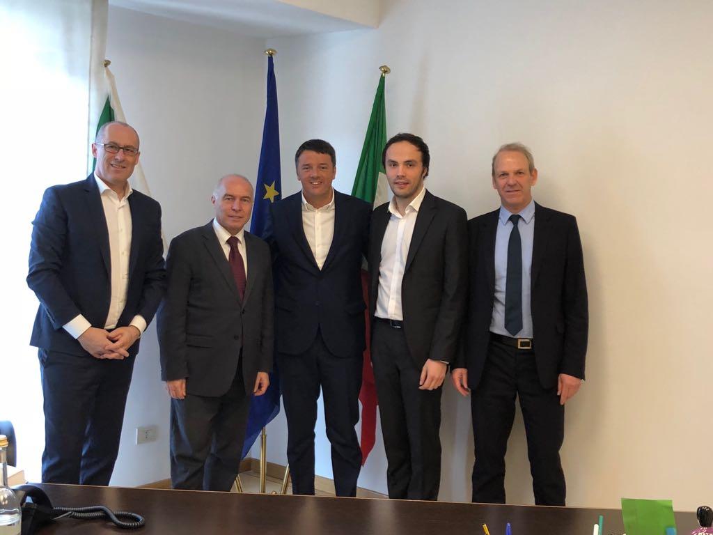 Delegazione SVP PATT Matteo Renzi