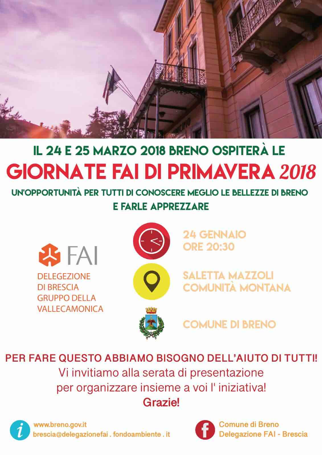 Giornate Fai di primavera 2018 in Valle Camonica: incontro ...