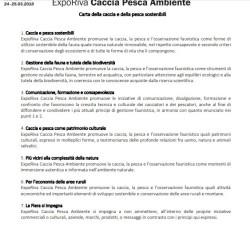 Carta caccia pesca sostenibile Riva Garda