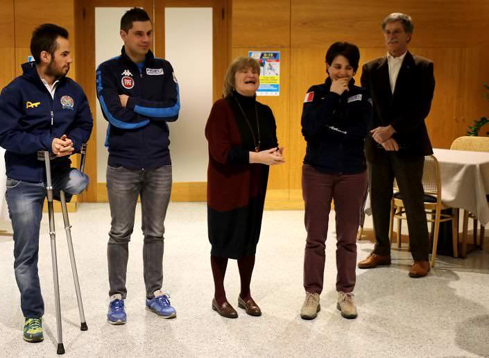 I due atleti - Gigliola Frassa, Pamela Novaglio e Angelo Martinoli 1