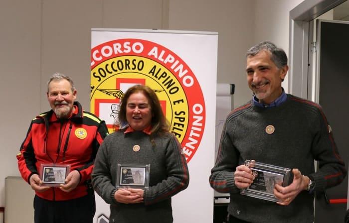 Premiati da sinistra Gianbattista Calenzani, Ameriga Zambaldi e Rosario Fichera