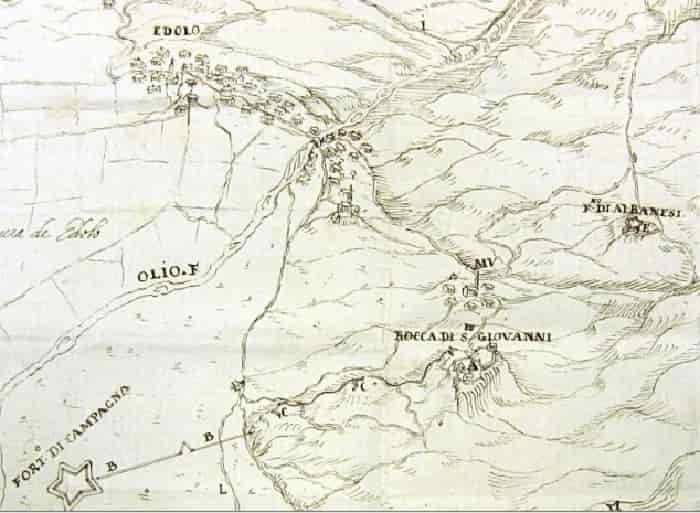Edolo carta storica 1635 - Archivio Stato