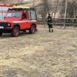 Incendio - vigili del fuoco Vezza d'Oglio