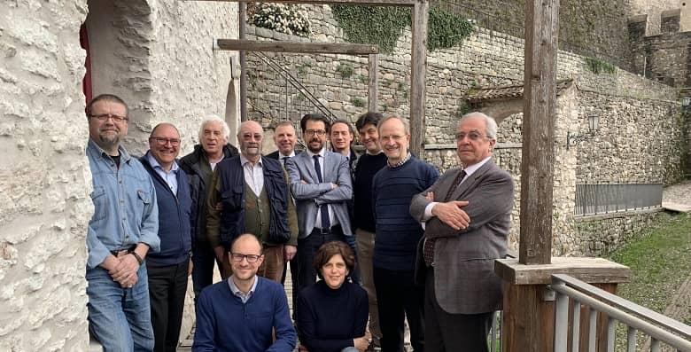 Museo Grande Guerra, Miorandi, Carretta, il sindaco Valduga, il presidente Prosser, il Cda e il Provveditore Frizzera