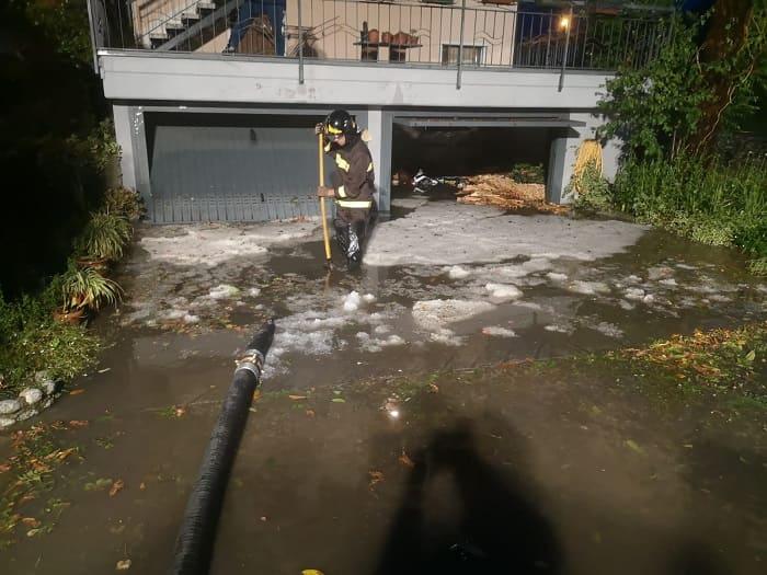 Vigili del Fuoco ondata maltempo Valle Camonica - Gdv