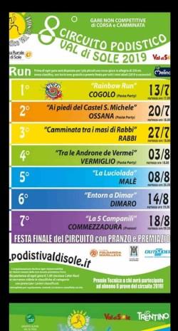 Il Calendario Del Podista.Al Via Il Circuito Podistico Val Di Sole Il Calendario 2019