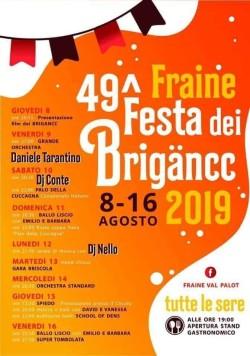 Daniele Tarantino Calendario Serate.Festa Dei Brignancc A Fraine Di Pisogne Il Programma