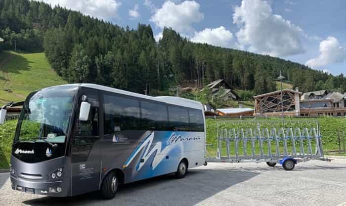 Maroni - bus - bici - Piazzale Cida Ponte di Legno
