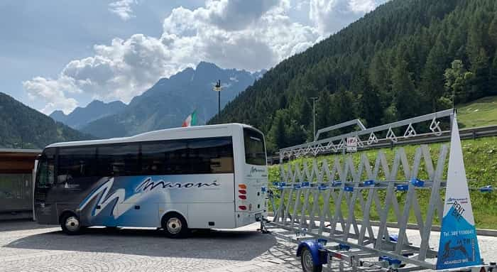 Maroni - bus - bici - Ponte di Legno