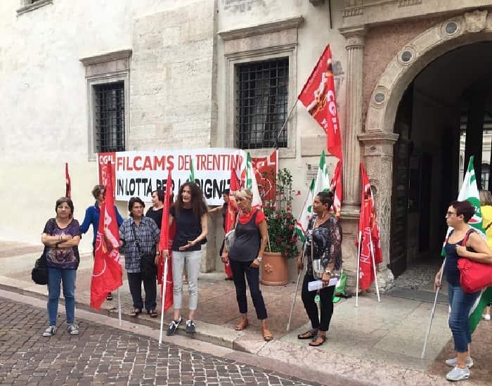 Trento - sindacati - appalto - pulizie