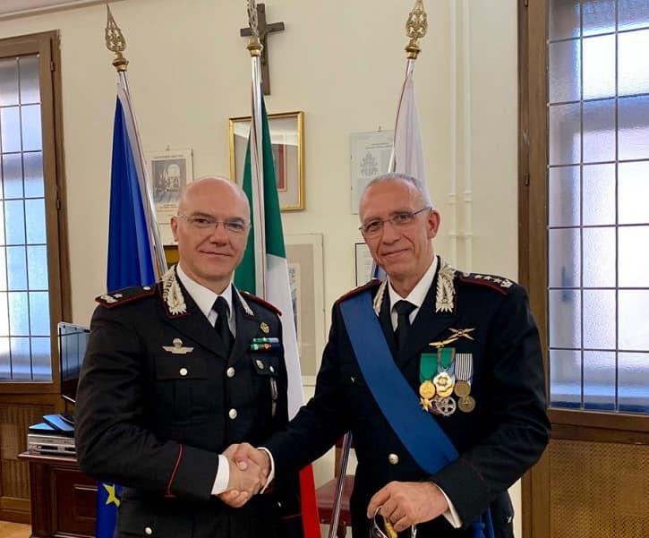 Da sinistra il generale Ugo Calzoni - colonnello Simone Salotti