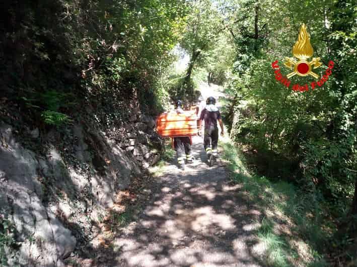 Darfo intervento vigili fuoco - escursionista