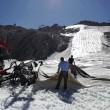 Teli geotessili - ghiacciaio Presena 1