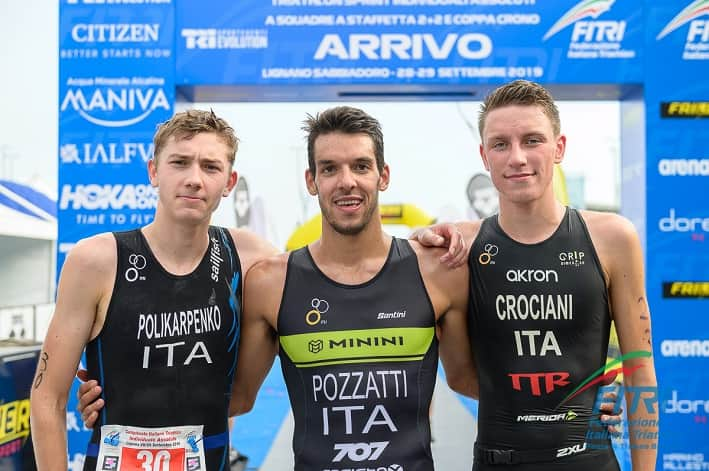 Podio Assoluti Triathlon Elite Uomini - credit Ballabio FITRI
