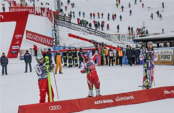 Il marchio ombrello gare di Coppa del mondo in Alta Badia credit foto ASP