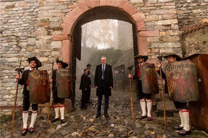 Presidente Van der Bellen Castel Tirolo © foto ASP- Daldos