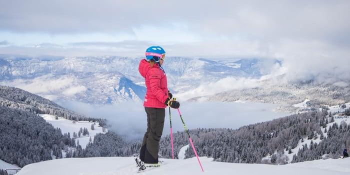 alpe cimbra sci neve - gober