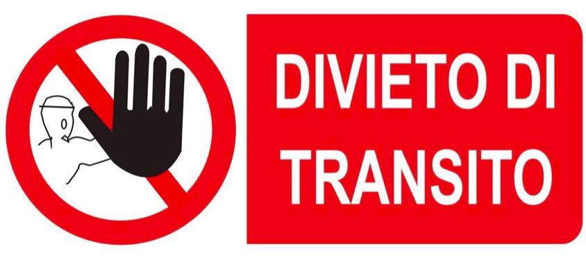 cartello divieto transito