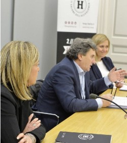 Da sinistra Carla Costa, Roberto Pellegrini, Alessandra Albarelli