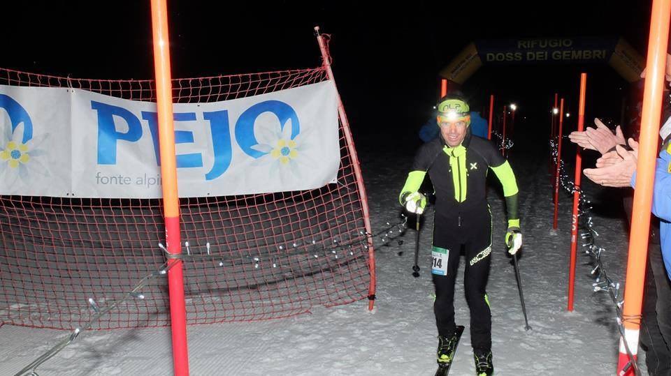 Daniele Cappelletti arrivo 2019 vioz scialpinismo