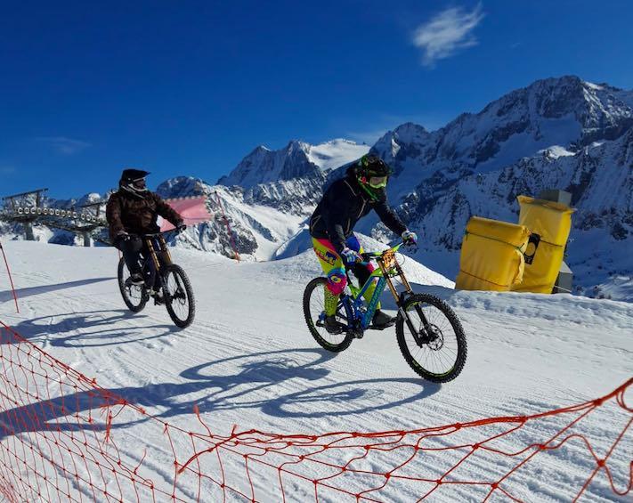 bike mtb la winter downhill passo tonale gdv