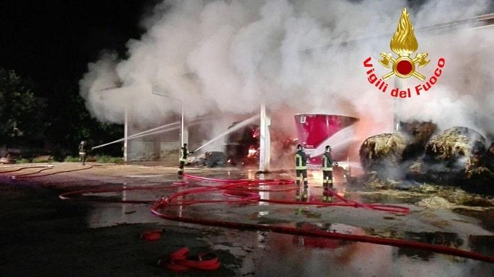incendio Bagnolo Mella