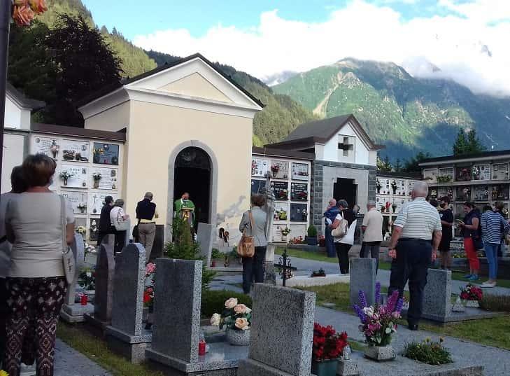 Messa - cimitero - Ponte di Legno