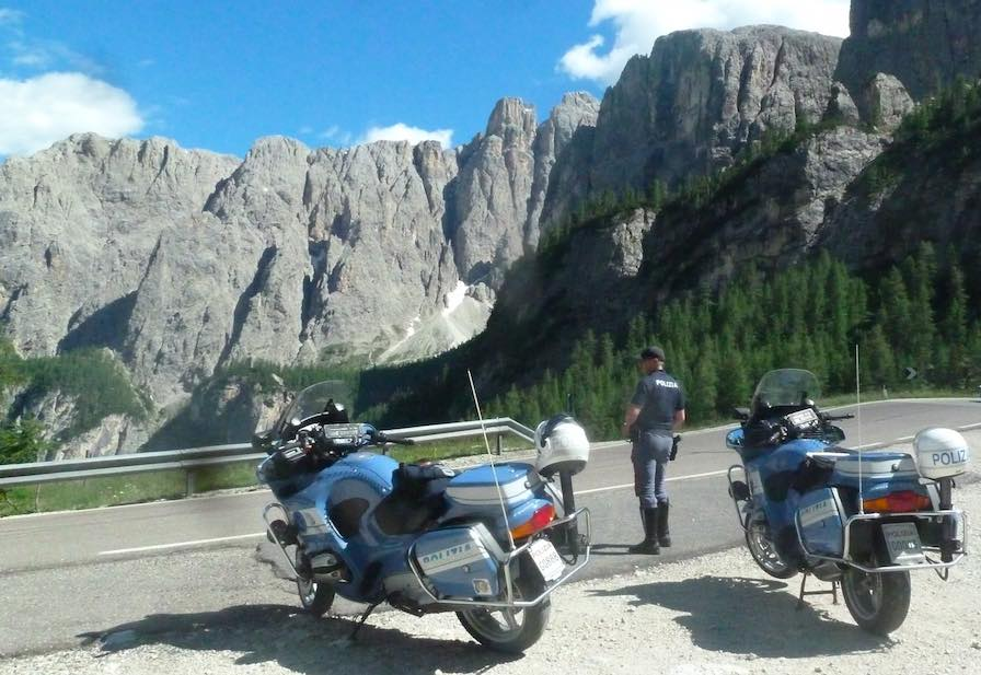 polizia stradale montagna