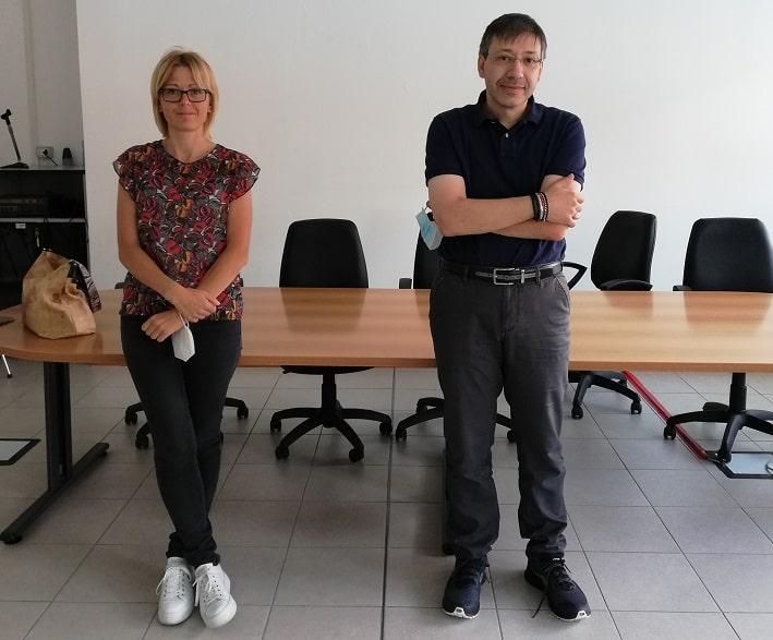 Da sinistra consigliere regionale Simona Pedrazzi e dirigente Ust Fabio Molinari