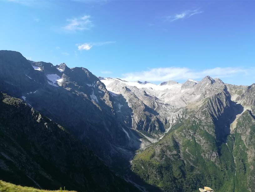 ghiacciaio pisgana narcanello estate sole escursioni montagne