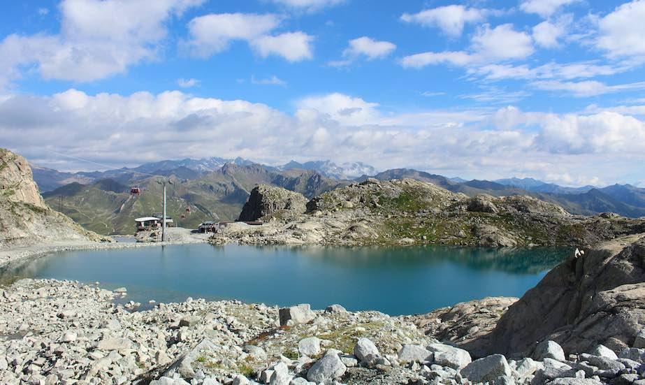 ghiacciaio presena lago cabinovia gdv