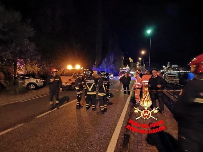 Frana riva del Garda 1 - foto credit vigili fuoco Riva del Garda