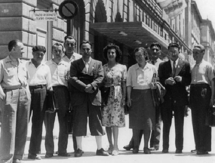 Nella foto del 1947 donata da Rita Giacomuzzi per l'archivio CGIL Trentino