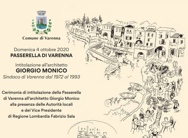 Passerella Varenna intitolata - architetto Giorgio Monico