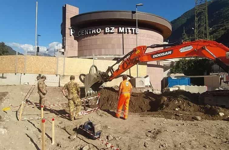 ordigno bellico Bolzano - crdit foto ASP-Esercito italiano