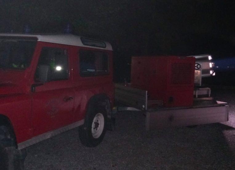 vigili fuoco notte soccorso
